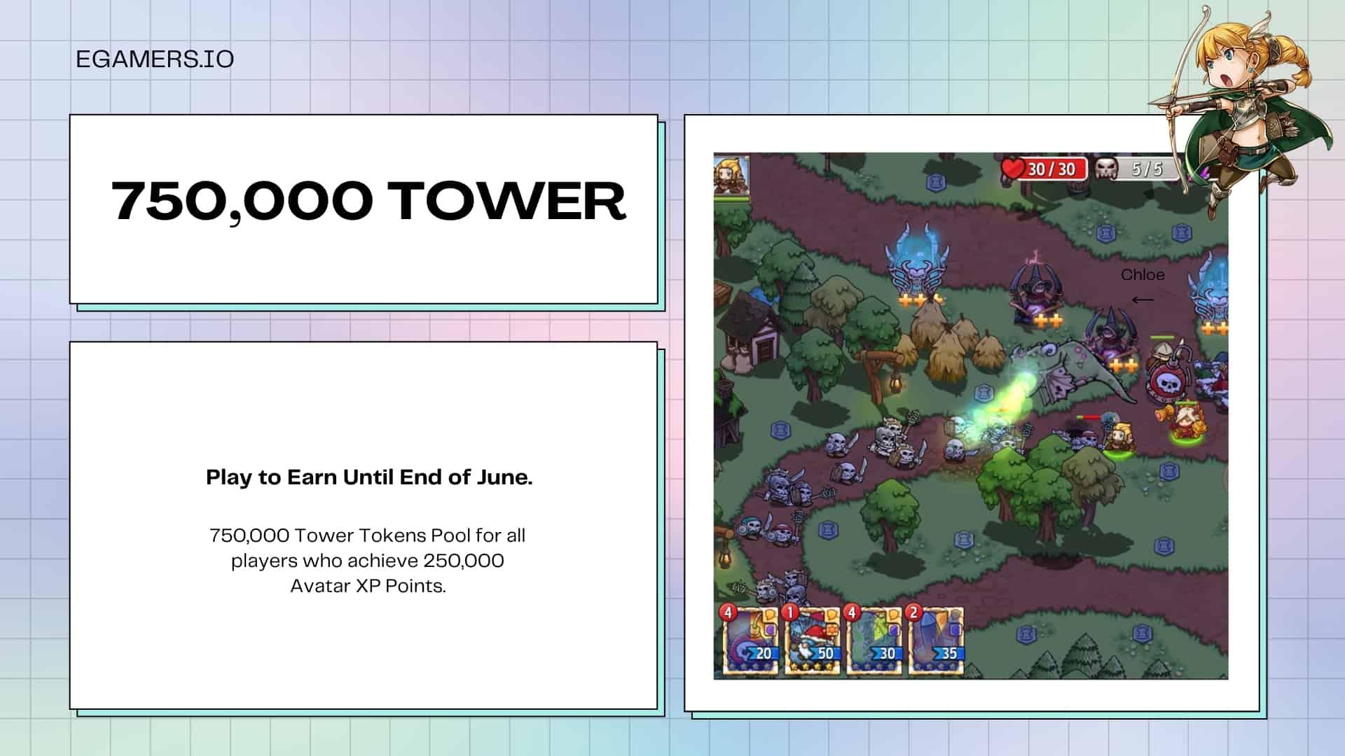 Crazy Defense Heroesplayers can earn freeTOWERtokens