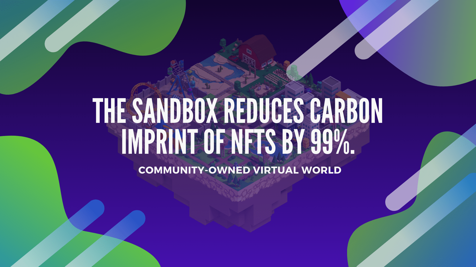 Sandbox, Now, Reducing The Carbon Imprint of NFTs by 99% And Boosting Afforestation.
