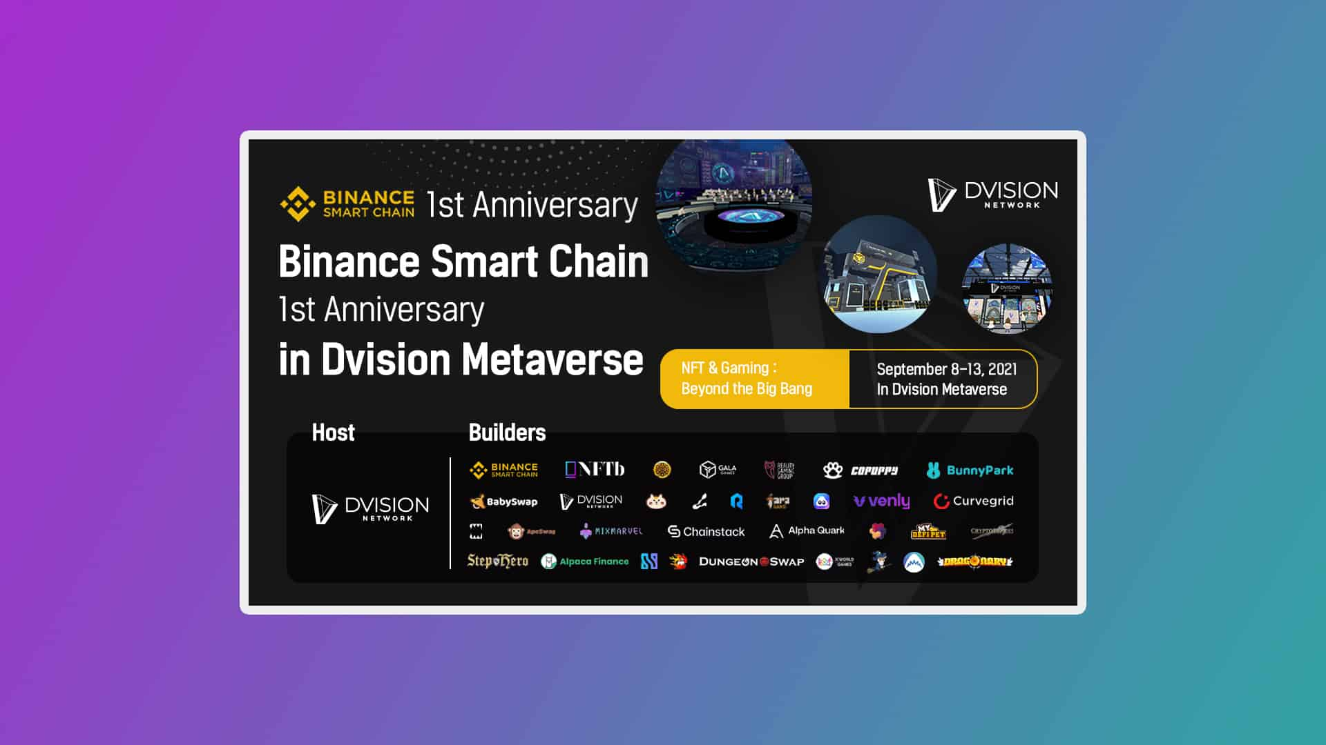Dvision network binance smart chain conference