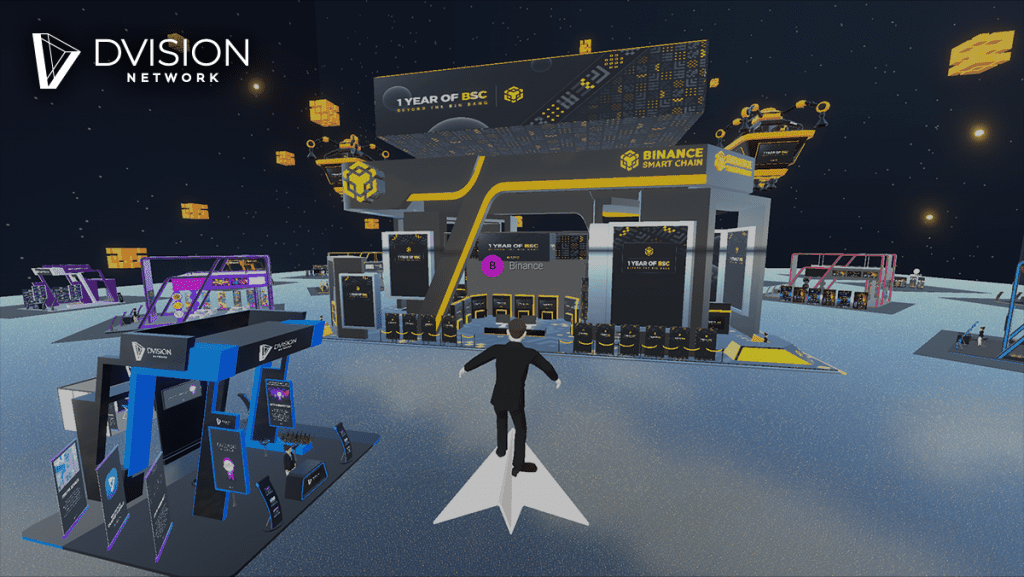 BSC Booth in dvision metaverse