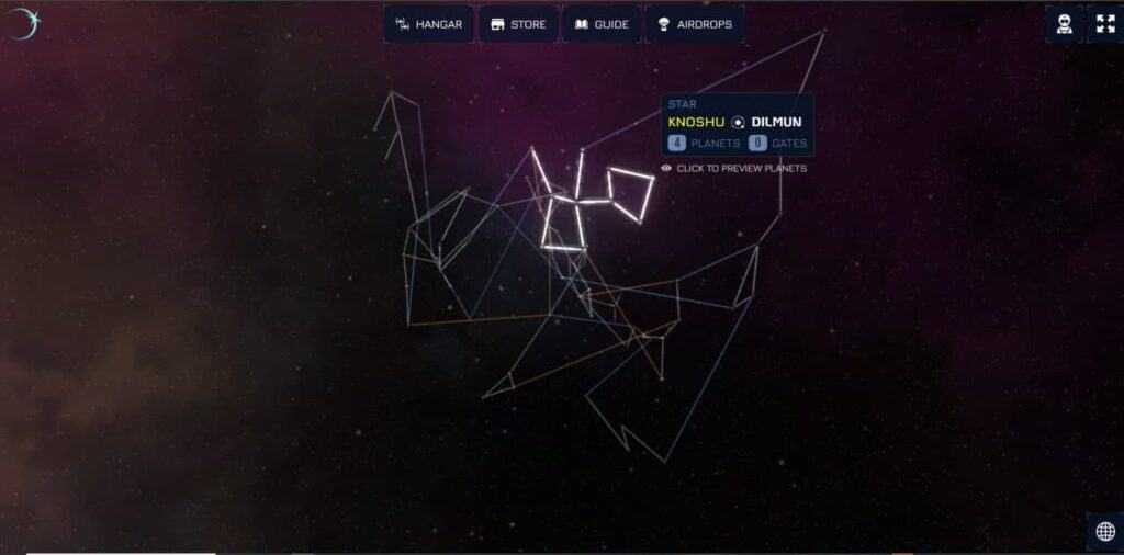 Star map exclusive in-game image.