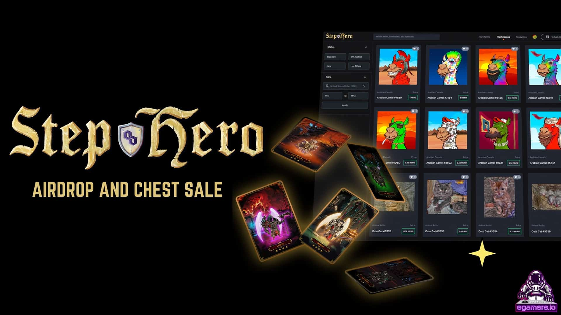 Step Hero Airdrop And Chest Sale