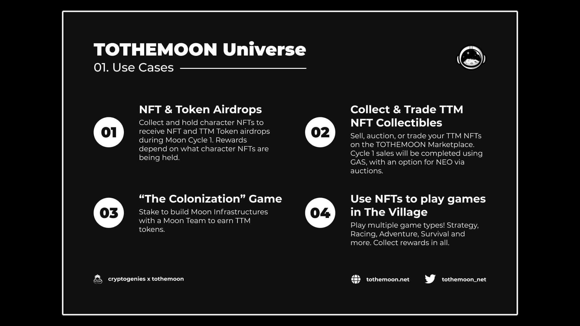 TOTHEMOON UNIVERSE Explained in Infographics